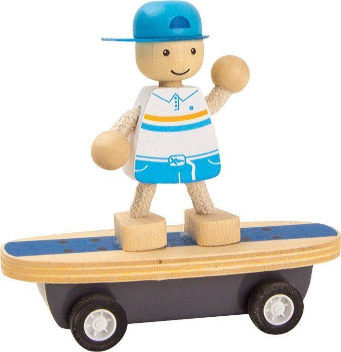 Skater gioco da tirare in legno gioco ecologico per bambini