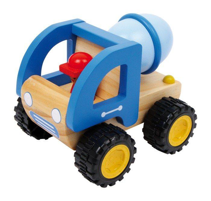 Camion betoniera in legno