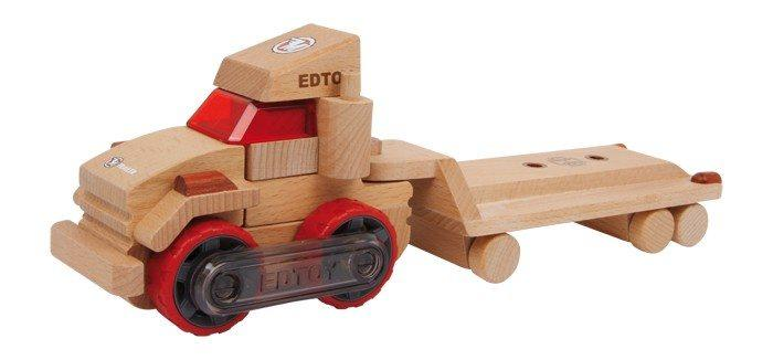 Camion con semirimorchio container da montare in legno