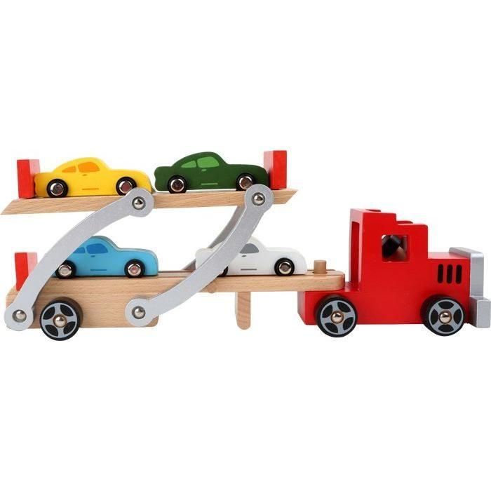 Camion trasporto automobili in legno gioco giocattolo bambini