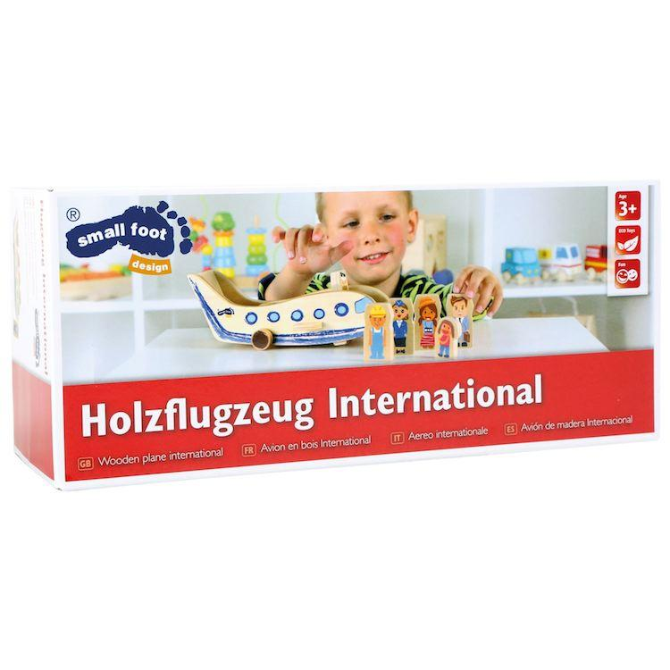 Aereo in legno giocattolo Internazionale con accessori