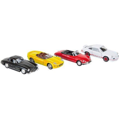 Modellino auto vetture sportive classiche Set da 12 Espositore display