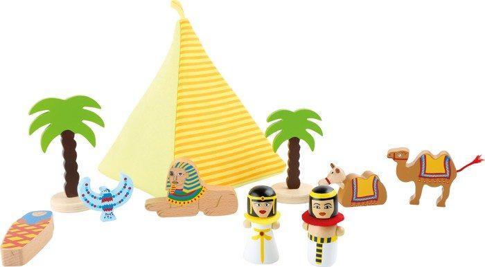 Mondi da giocare Egitto in legno con personaggi ed accessori