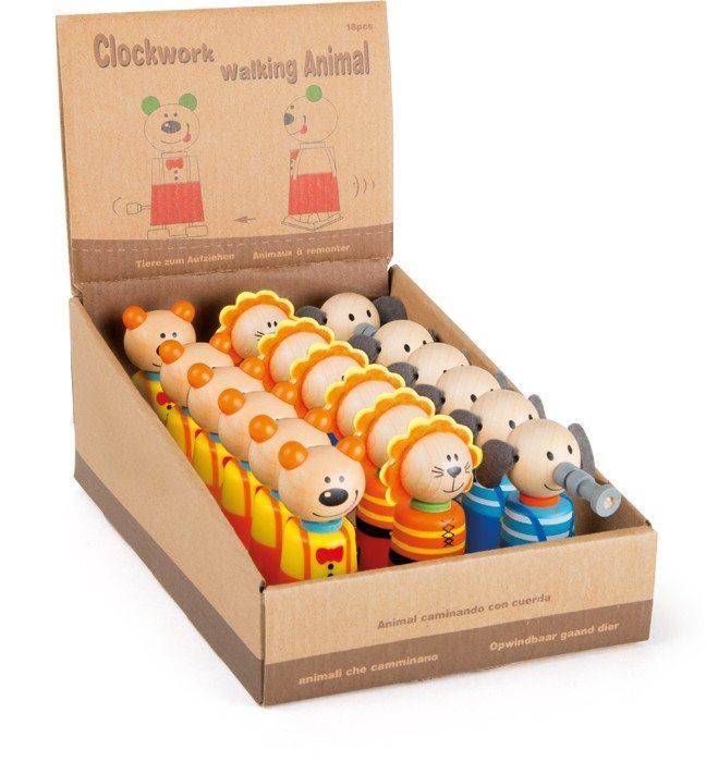 Display espositore Animali in legno con carica set da 18 Ideale per negozi edicole