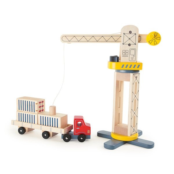Gru e camion di legno Gioco Legler 10161