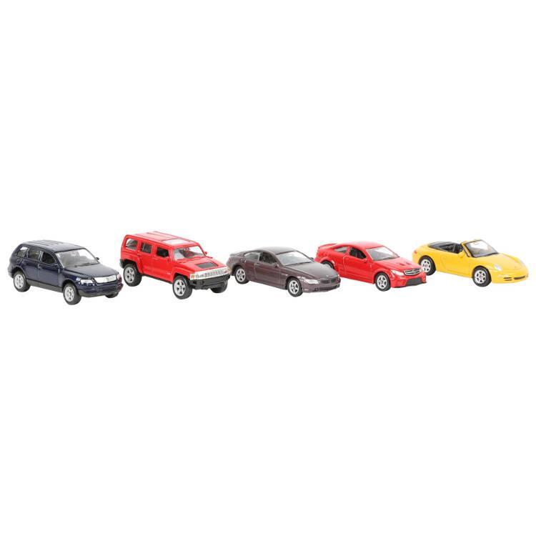Modellino auto vari modelli scala 1:60 - 5 pezzi