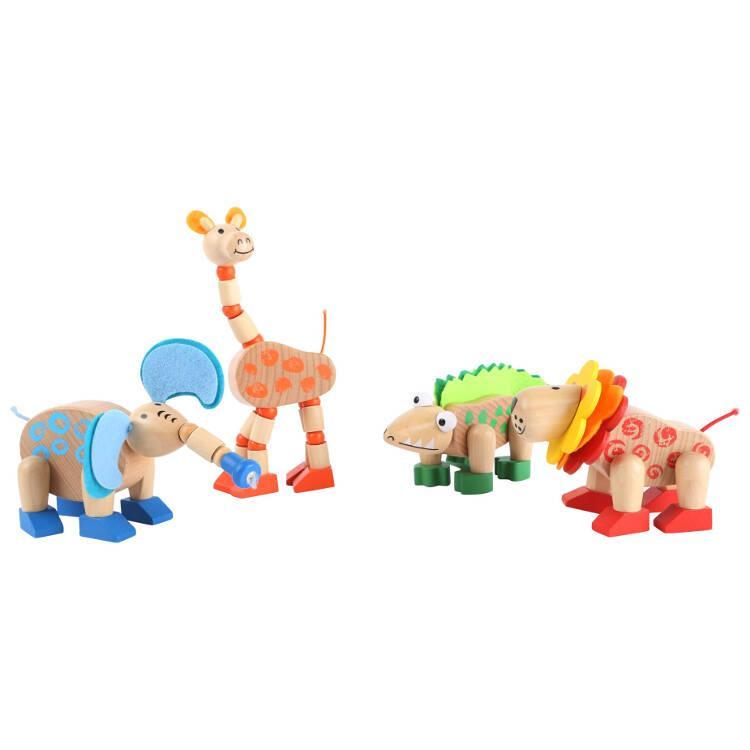 Animali selvatici gioco in legno Display espositore