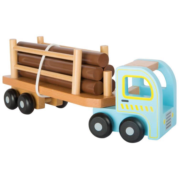 Furgone in legno per trasportare la legna