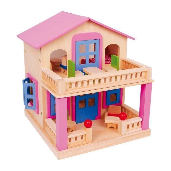 Casa delle Bambole in Legno con arredamento Clara Gioco Bambina