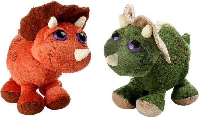 Coppia Peluche dinosauro Triceratopo