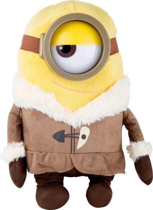 Peluche Minions Stewart con abbigliamento che va in spedizione