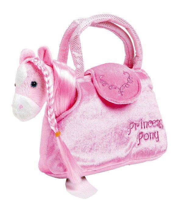 Borsa con Pony peluche rosa borsetta bambina