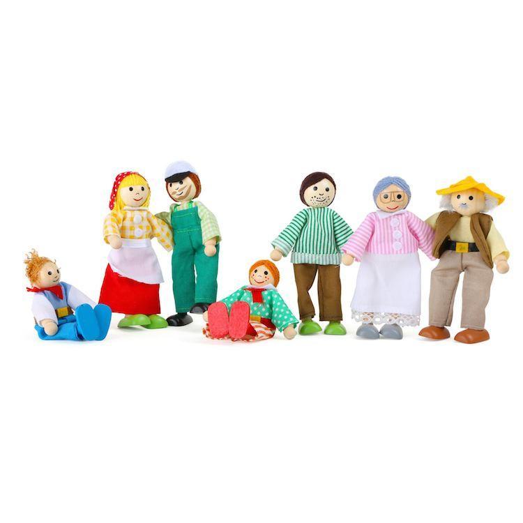 Personaggi Pupazzetti Fattoria casa delle bambole