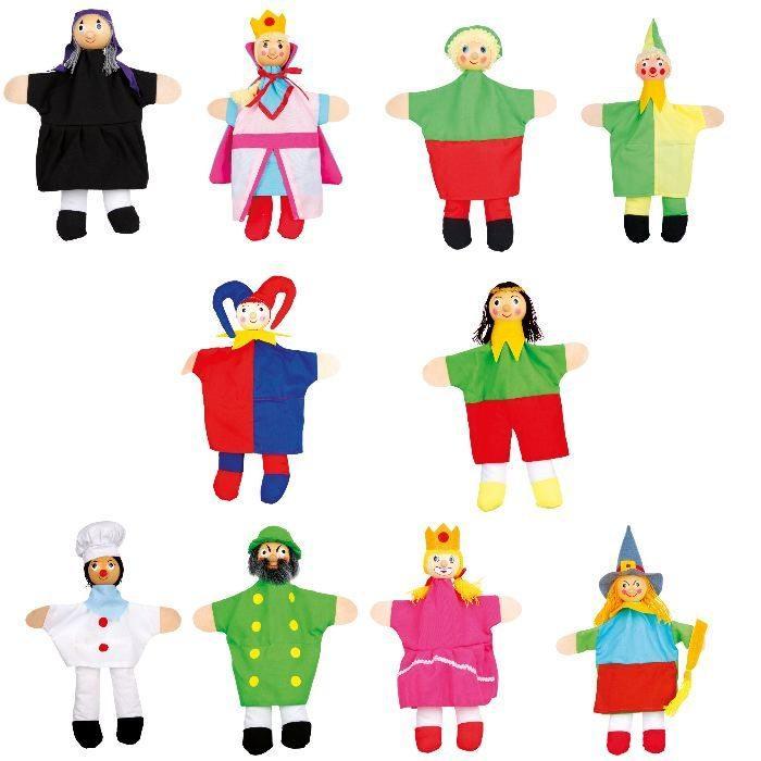 Marionette di stoffa per bambini Set da 10