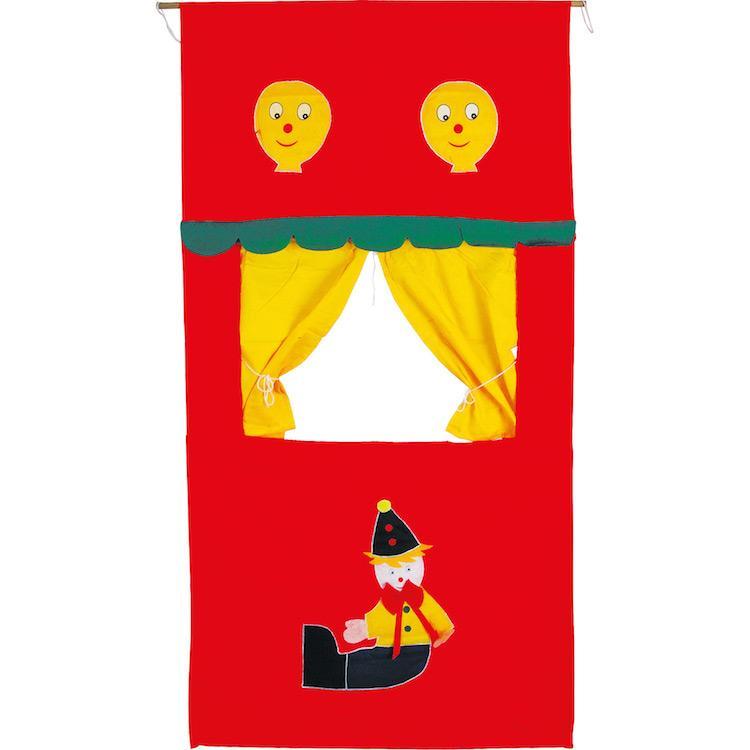 Teatrino dei burattini in tessuto giocattolo bambini