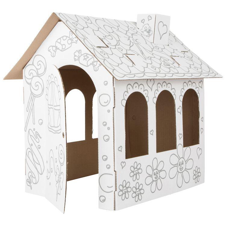 Casa delle Bambole in Cartone da colorare Legler 10762