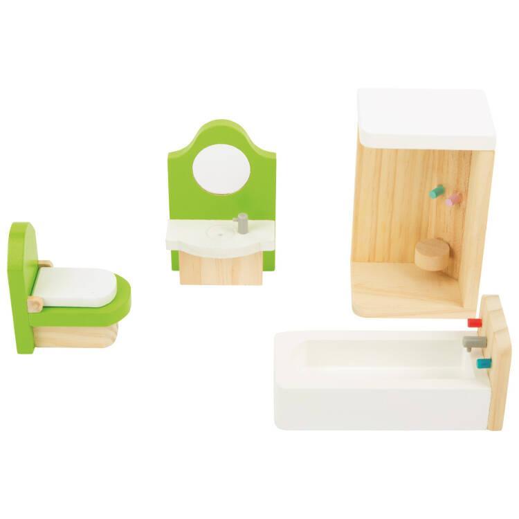 Casa delle bambole mobili in legno per il bagno - Mobili in legno per bagno ...