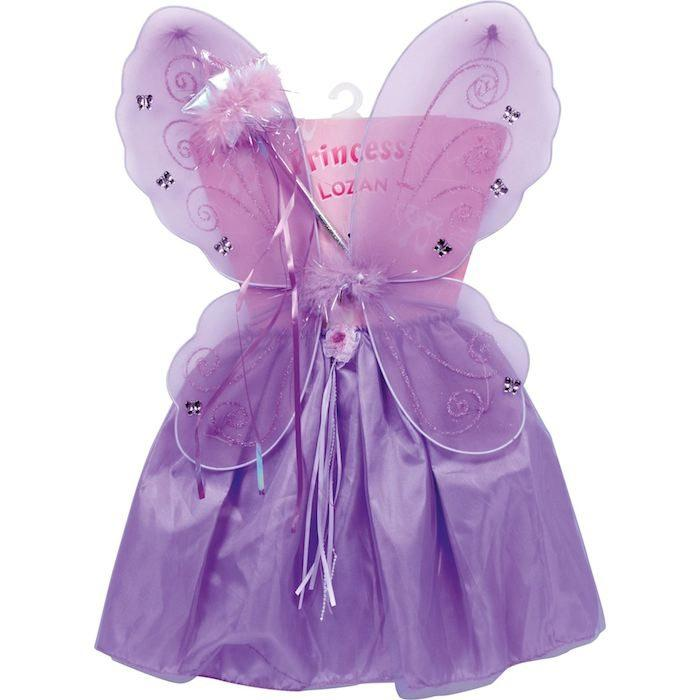 Vestito Costume Fatina Carnevale Bambina 1 - 4 anni con Ali e Bacchetta Magica