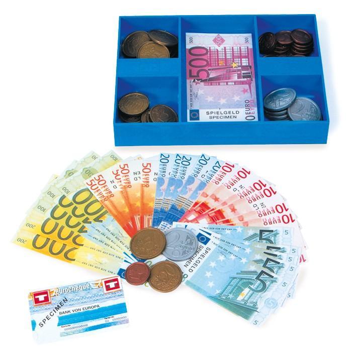 Cassa con soldi negozio-bancarella gioco per bambini