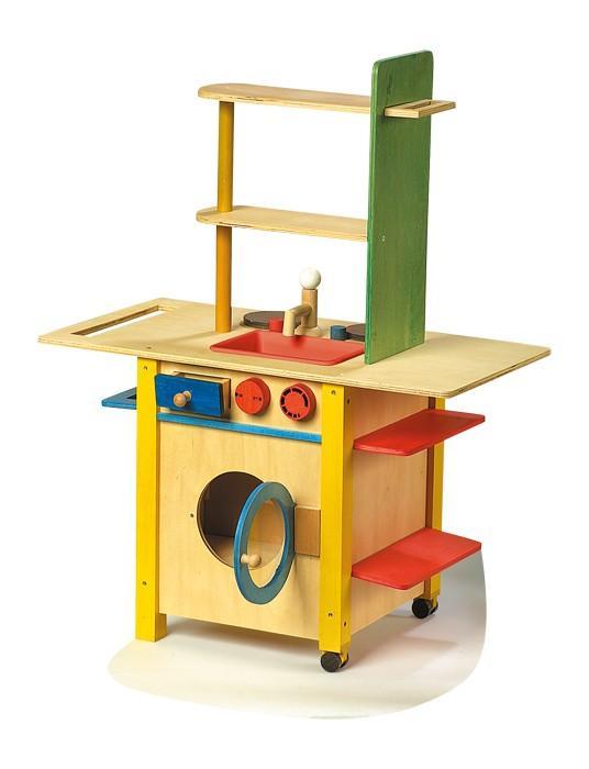 Cucina in legno per bambini giocattolo All in one con accessori