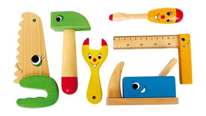Attrezzi da lavoro in legno set da 6 Giocattolo per bambino