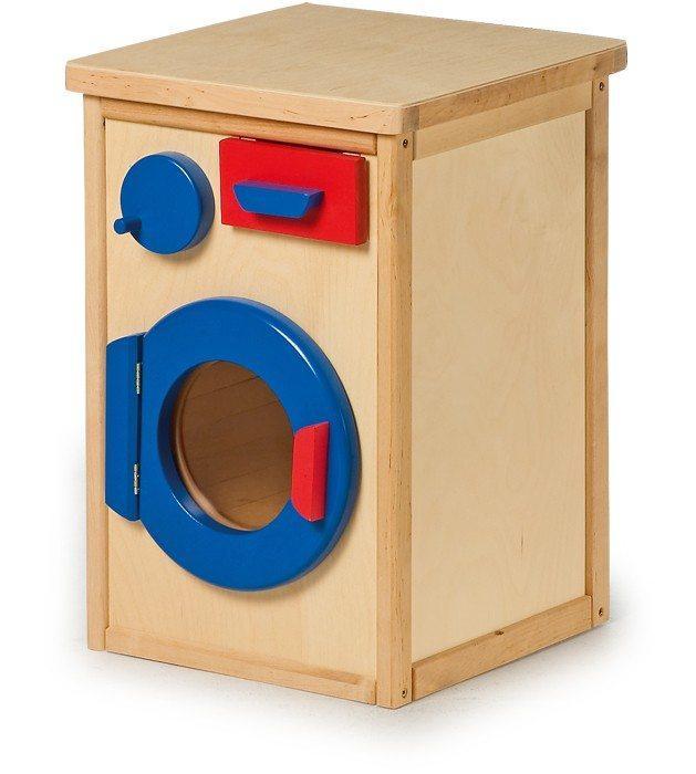 Lavatrice giocattolo in legno