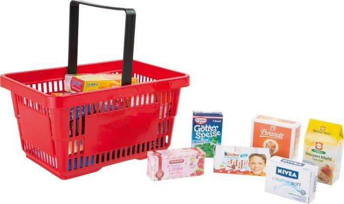Cestino della spesa con accessori per il negozio supermercato gioco bambini