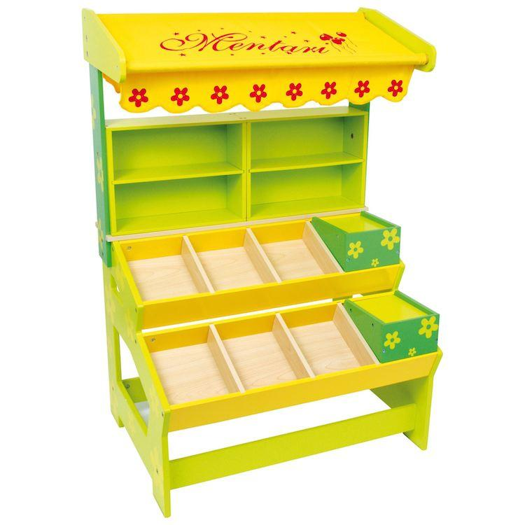 Mercatino Bancarella in legno giocattolo per bambini