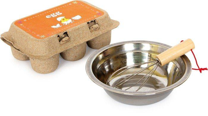 La scorpacciata di uova in legno accessori gioco cucina per Bambini