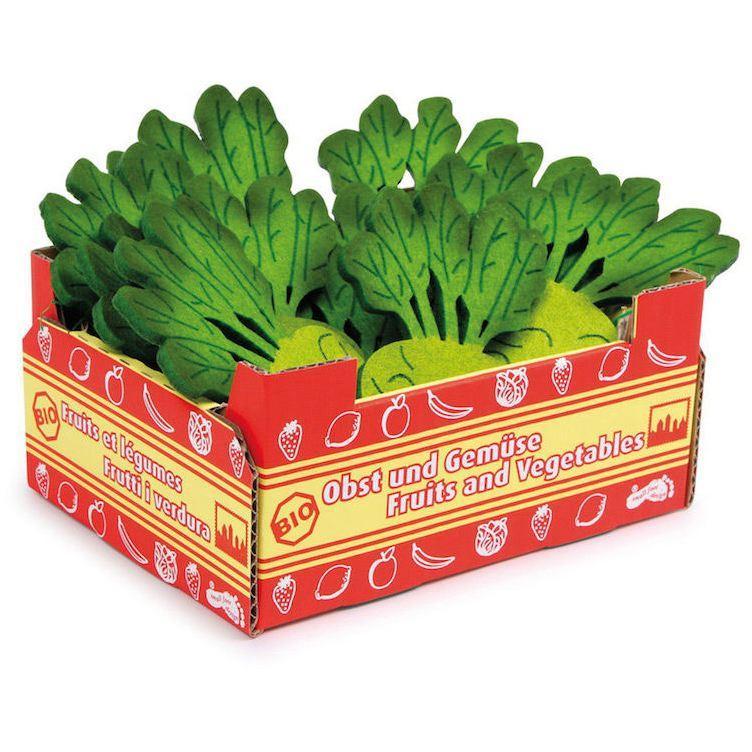 Cassetta verdura Cavolo rapa gioco per bambini complemento bancarella