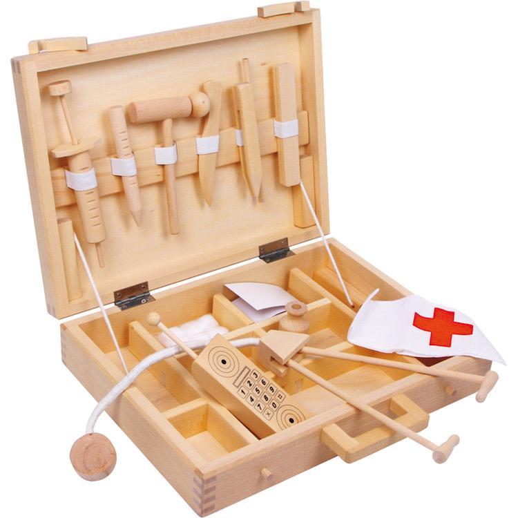 Valigetta del dottore gioco in legno Gioco Bambini