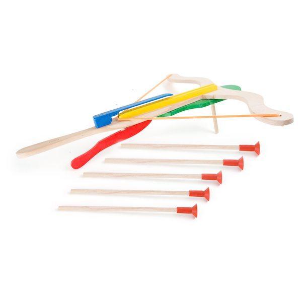 Balestra in legno a due mani con frecce gioco bambini Legler 10072