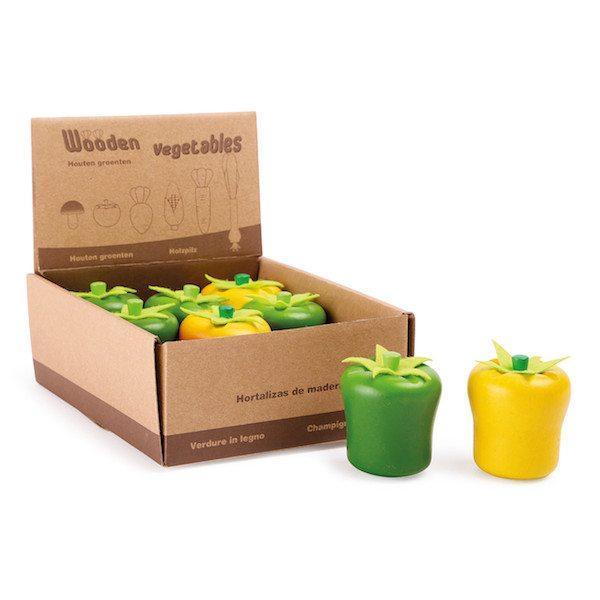 Display Peperoni di legno accessori gioco cucina Legler 10130