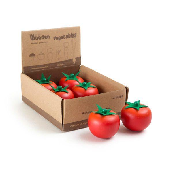 Pomodori di legno accessori gioco cucina Display Legler 10131