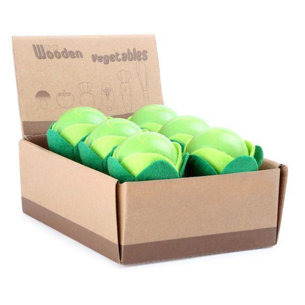 Display Insalata di legno accessori gioco cucina Legler 10136