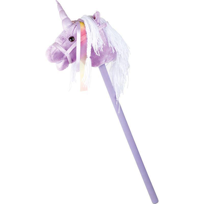 Unicorno in tessuto e stecca in legno lilla
