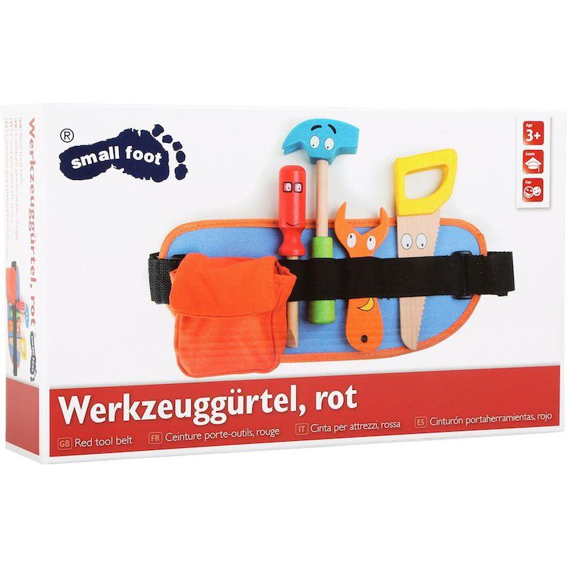 Cintura con attrezzi da lavoro rossa gioco bambini Legler 10318