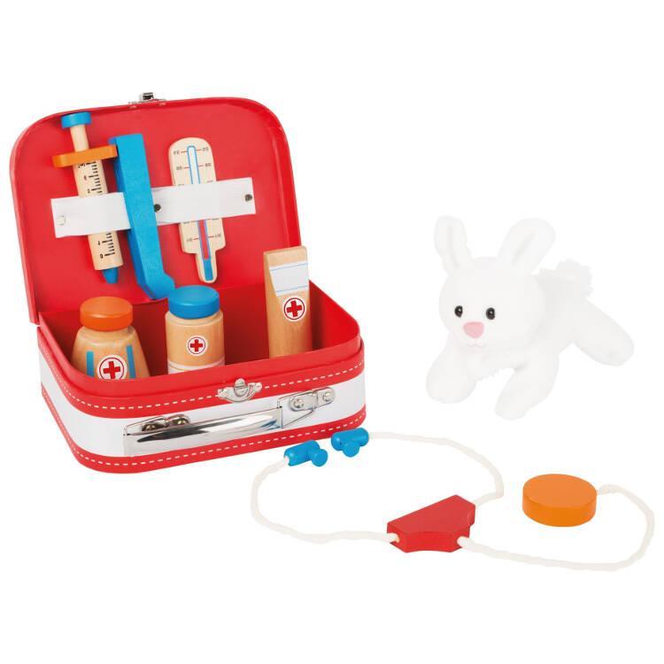 Gioco in legno Valigia del dottore con coniglietto