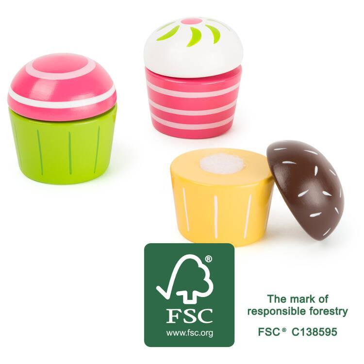 Cupcakes alimento accessorio giocattolo cucina in legno