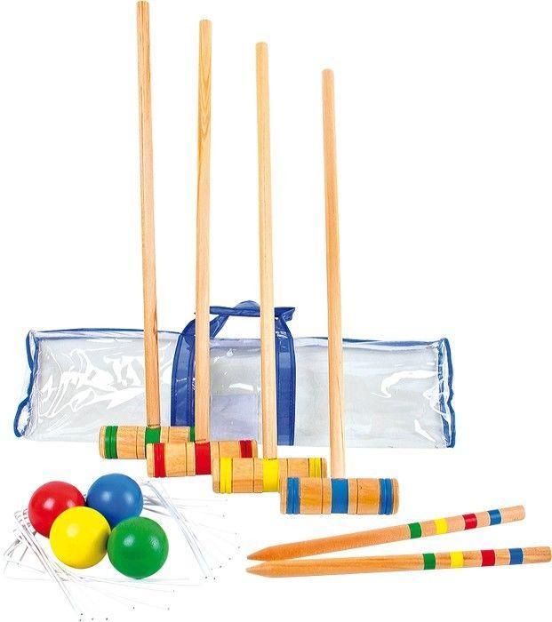 Set completo in legno gioco Croquet per bambini