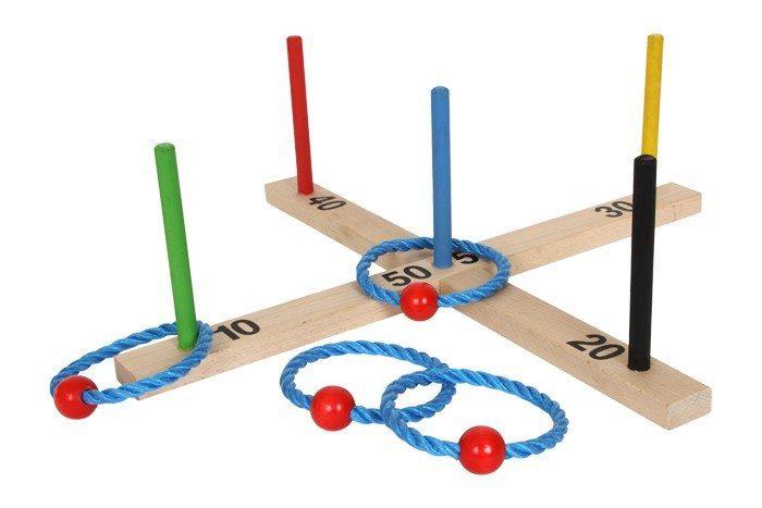 Gioco Lancia anello Colorato in legnogiocattolo abilità bambini