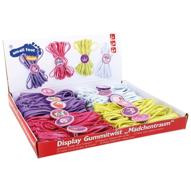 Elastici corde da saltare colorate Espositore display Set da 12 pezzi