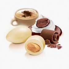 Confezione 500g confetti Papa gusto CioccoCappuccino colore beige/grigio