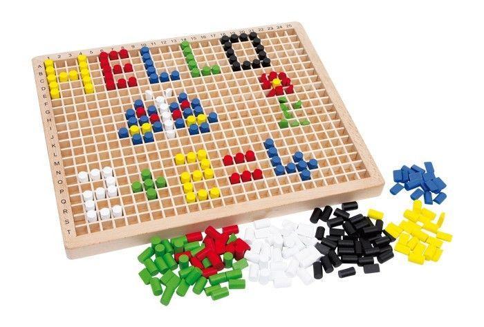 Puzzle/scatola ad incastro creativa in legno gioco bambini