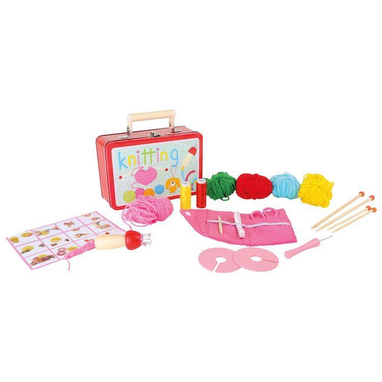 Valigia gioco bambine Set per lavorare a maglia