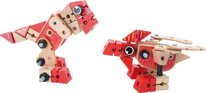 Set Costruzioni in legno Dinosauro 2 in 1 gioco bambini