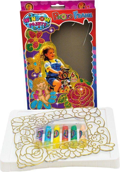 Quadro/cornice per finestre con colori luminosi Gioco bricolage per bambini