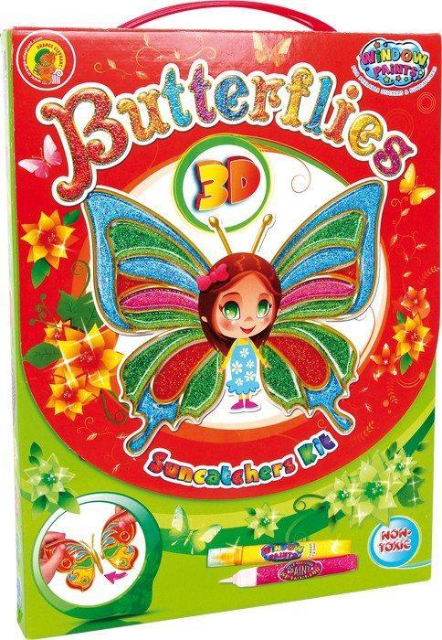 Suncatcher Butterflies 3D Decora e colora ali di farfalla Gioco creativo per bambini