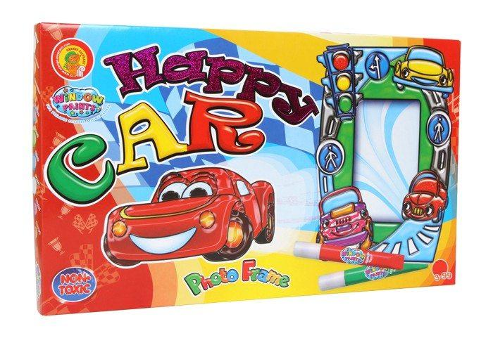 Set Cornici da colorare Happy Car