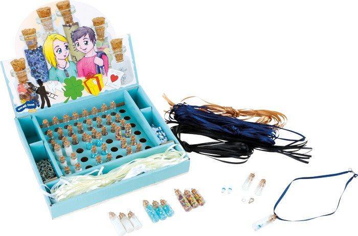 Collana o bracciale portafortuna Piccole bottiglie di vetro Espositore/display